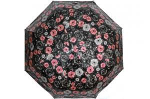 Фото  Женский черный зонт с цветами Sponsa ( полный автомат ) арт. 8139-05