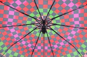Фото  Молодежный зонт в клетку Princces ( полуавтомат ) арт. 145-01