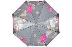 Фото  Серый женский зонт Три Слона ( полный автомат ) арт. 125E-05