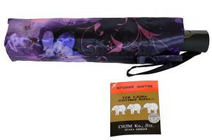 Фото  Фиолетовый женский зонт Три Слона ( полный автомат ) арт. 363A-08
