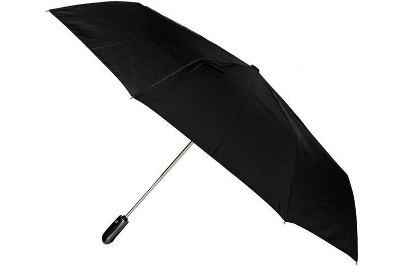 Черный мужской зонт Три Слона ( полный автомат ) арт. 600