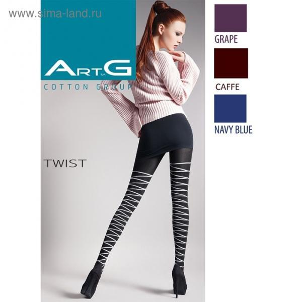 Колготки женские ARTG TWIST 150 den, (2) цвет чёрный (nero), размер 4