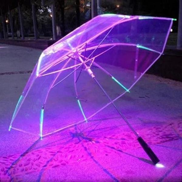 Прозрачный зонтик  с подсветкой