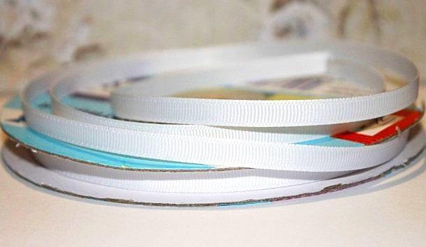 Фото Ленты, Лента репсовая 0.6мм-12мм Репсовая лента , ширина 0.6 мм ,  Белого  цвета , бобина 23 м .