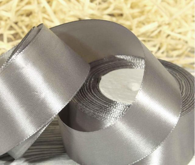 Фото Ленты, Лента атласная  однотонная 4 см Атласная лента   4 см , цвет стальной