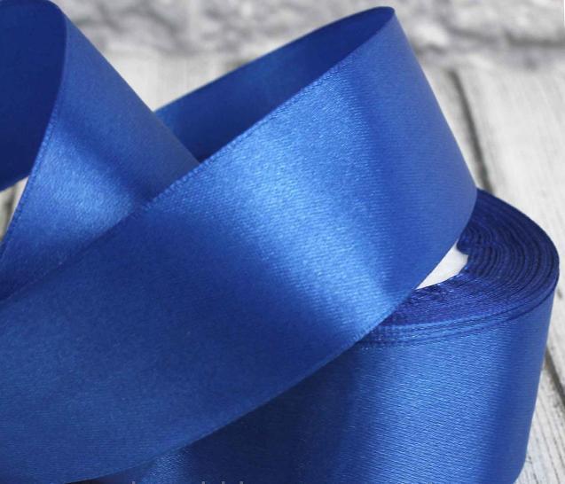 Фото Ленты, Лента атласная  однотонная 4 см Атласная лента   4 см , цвет синий электрик