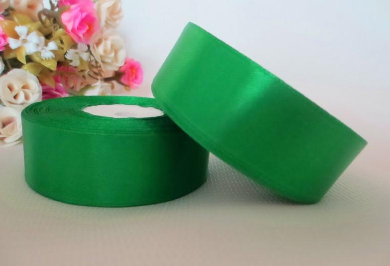Фото Ленты, Лента атласная  однотонная 4 см Атласная лента   4 см , цвет зелёный