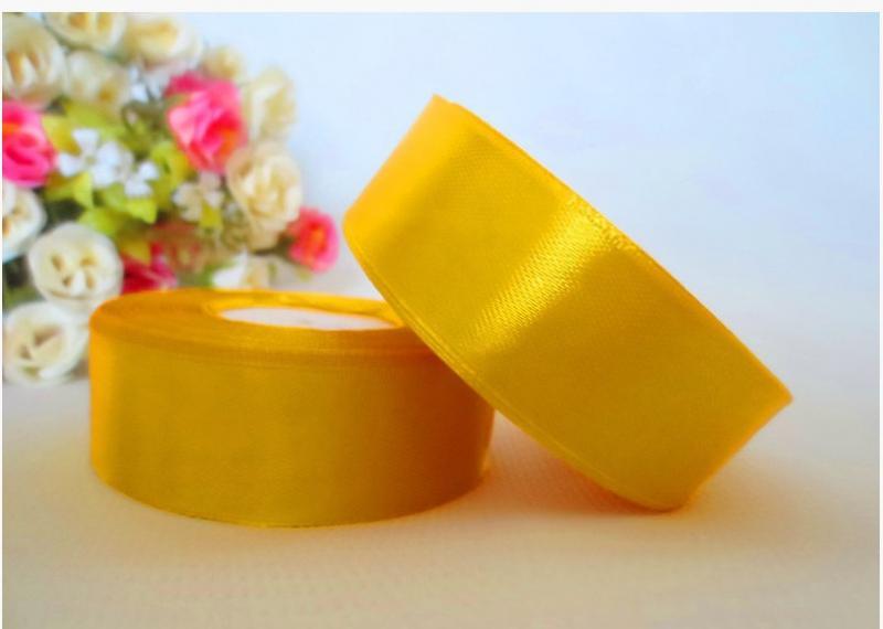 Фото Ленты, Лента атласная  однотонная 4 см Атласная лента   4 см , цвет ярко- жёлтый