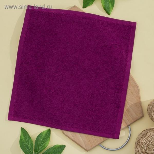 Салфетка махровая, 30х30 см, цвет фуксия