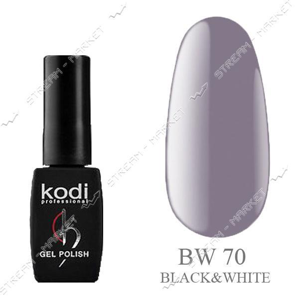 Гель-лак Kodi Black & White №70 Теплый серый 8 мл