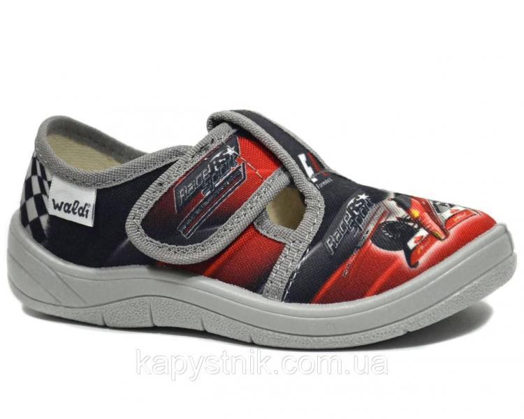 Тапочки WALDI арт.Гриша 360-003 Formula1, серый,24р