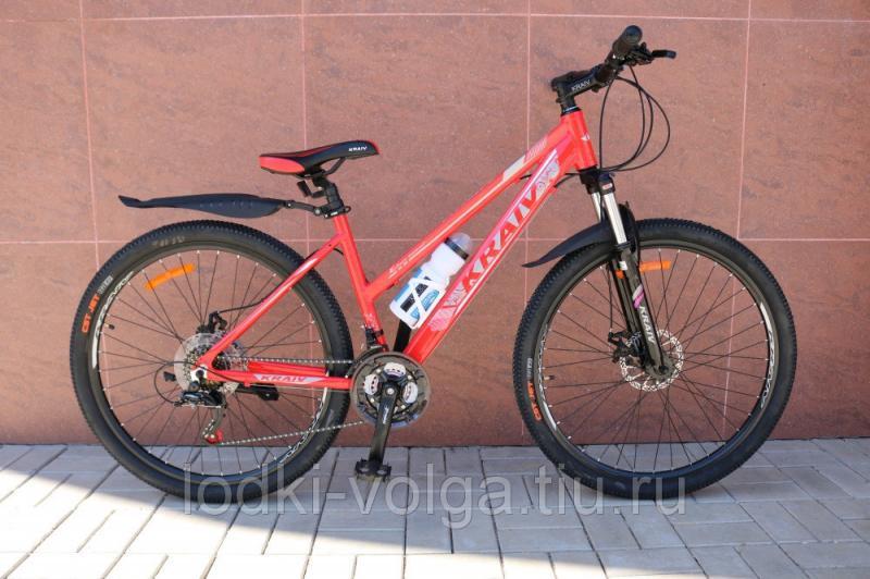 Велосипед KRAIV 27,5AL 21SP LADY (алюминий, 21 скорость) (красный/серебро)