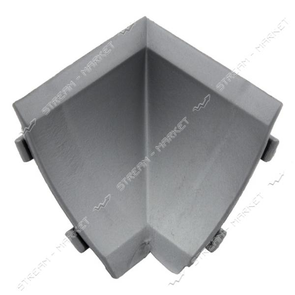 Уголок для плинтуса внутренний стыковочный металлик