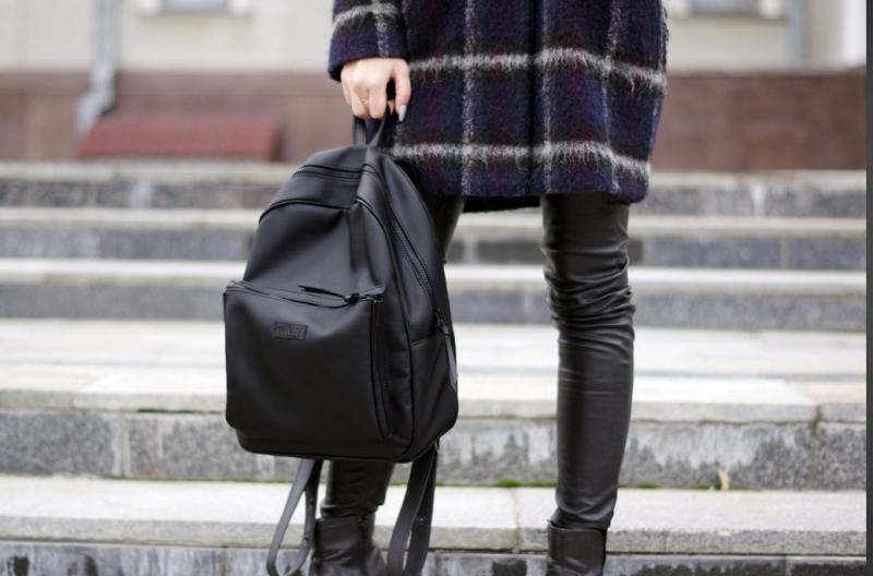 Жіночий рюкзак harvest blackberry чорний Mono. Наплічник. Стильний. Для міста.