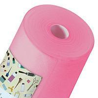 Простынь одноразовая Panni Mlada материала спанбонд 0,6м*100м., 20 г/м2 Розовый