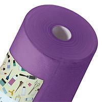 Простынь одноразовая Panni Mlada материала спанбонд 0,6м*100м., 20 г/м2 Фиолетовый