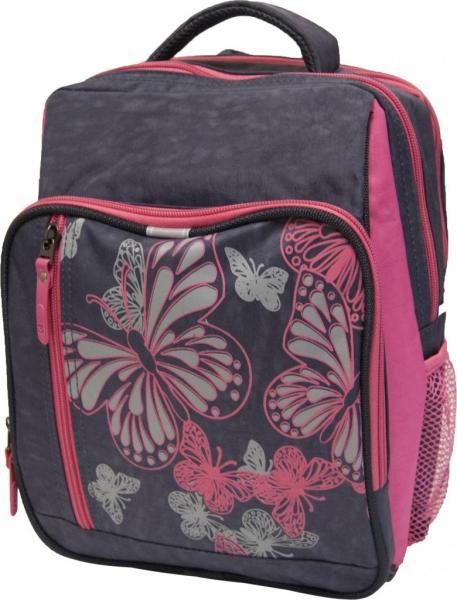 Украина Рюкзак школьный Bagland Школьник 8 л. Серый/розовый (00112702)