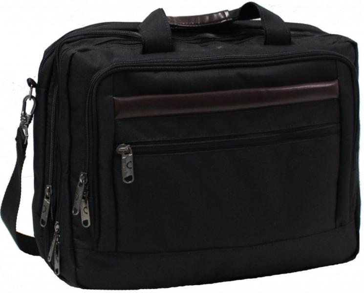 Украина Сумка для ноутбука Bagland Бизнес 15 л. Чёрный (0044166)