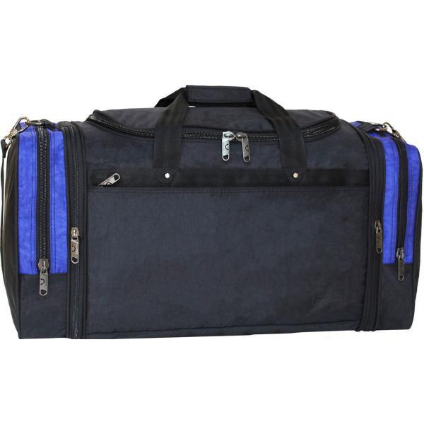 Украина Спортивная сумка Bagland Мюнхен 59 л. Черный/электрик (0032570)