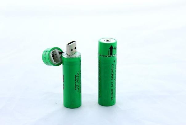 Аккумулятор Battery USB 18650 С USB Зарядкой