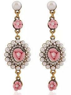 Серьги Камея розовые tb1151