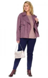 Фото  Куртка женская из эко замши