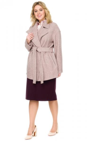 Пальто женское прямого силуэта из вареной шерсти лоден