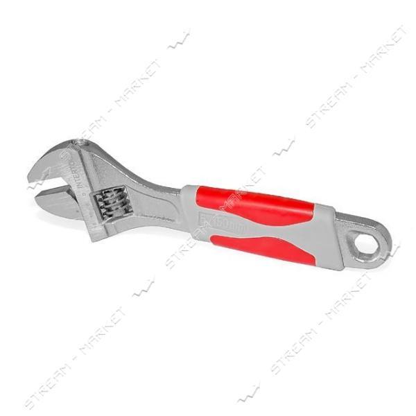 Ключ разводной INTERTOOL XT-0030 с обрезиненной ручкой 300мм