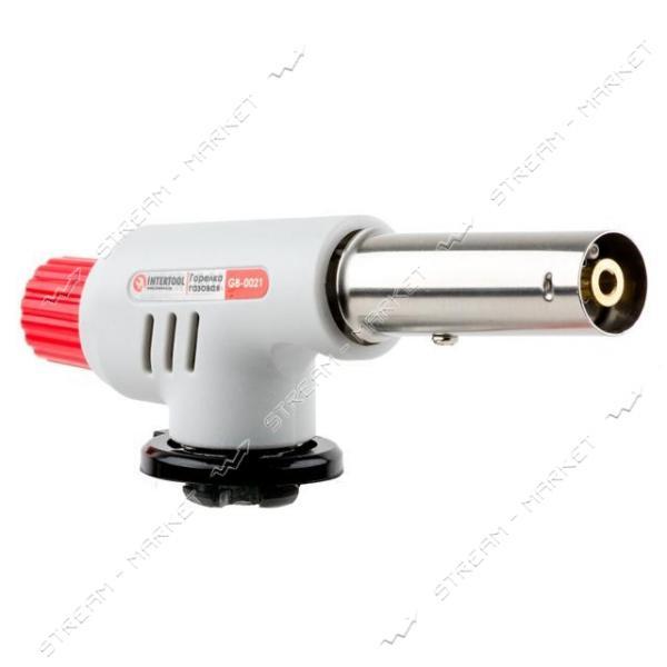 INTERTOOL GB-0021 Горелка газовая пьезозажигание на регуляторе