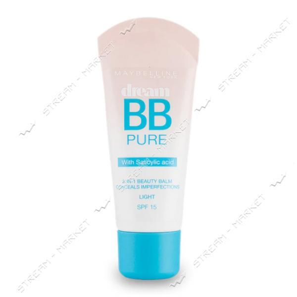 Крем-уход для проблемной кожи Maybelline 8-в-1 Dream Pure BB 1-Светлый 30мл
