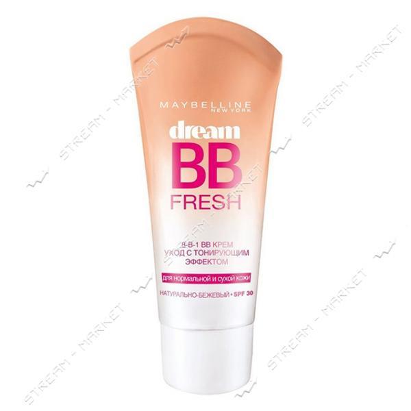 Крем-уход с тональным еффектом Maybelline 8-в-1 Dream Fresh BB Натурально-бежевый 30мл