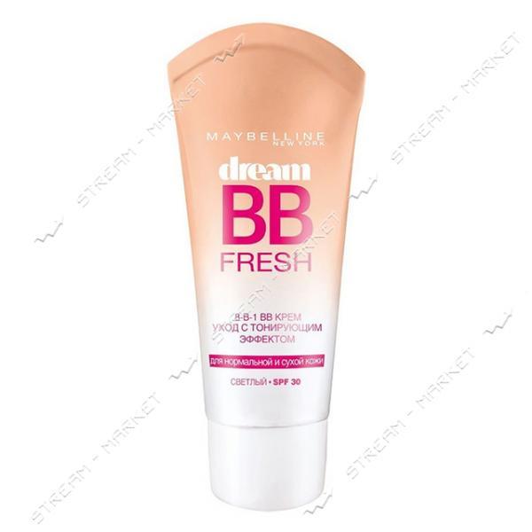 Крем-уход с тональным еффектом Maybelline 8-в-1 Dream Fresh BB Светлый 30мл