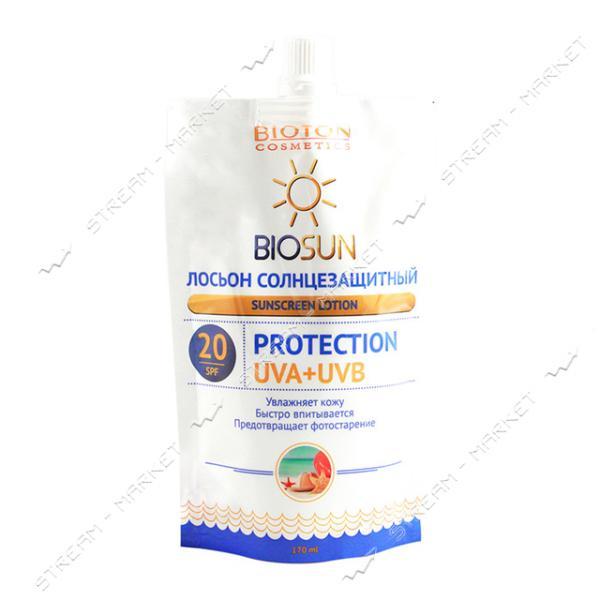 Лосьон солнцезащитный Bioton Cosmetics SPF 20 170 мл