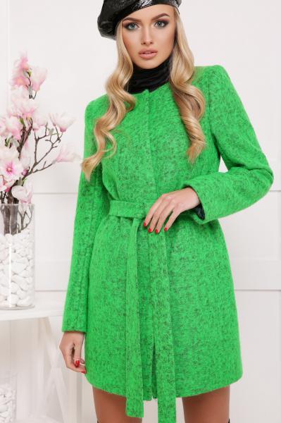 Красивое женское демисезонное пальто горчичного цвета, размер:44
