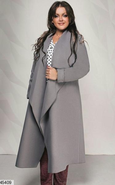 Новинка! стильное кашемировое женское пальто больших размеров: 50-52, 54-56, 58-60