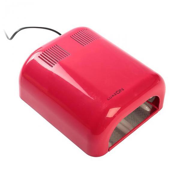 Лампа для гель-лака LuazON LUF-07, UV, 36 Вт, глянцевая, красная