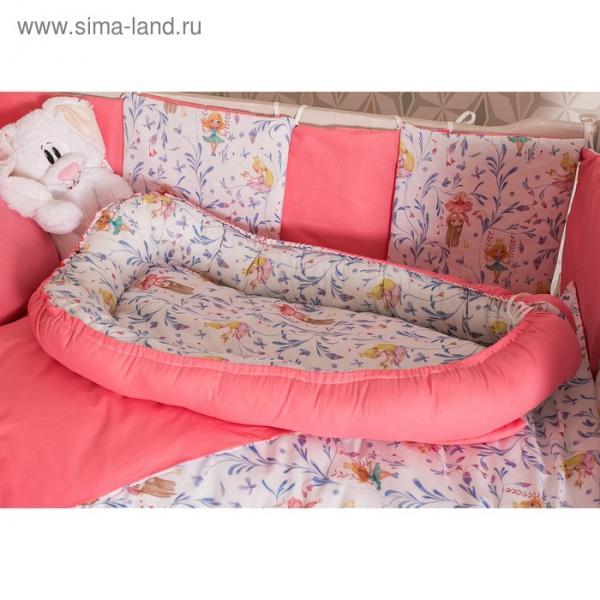 Матрасик-топпер для новорожденных «Милые принцессы», размер 72×100 см, бязь/синтепух