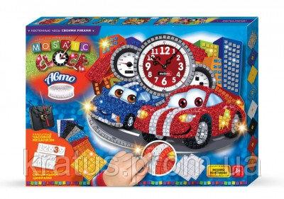 "MC-01-04 ""Авто"" Мозаика-часы по номерам (Danko toys)"