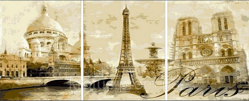 Фото Картины на холсте по номерам, Триптих, диптих MS 14029 (DZ 002) ТРИПТИХ