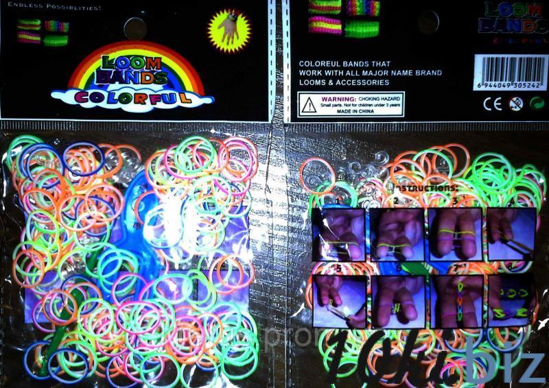 """Резинки в пакете """"двухцветные ассорти"""" 200шт., цена фото купить в Киеве. Раздел Детские заколки и резинки для волос"""