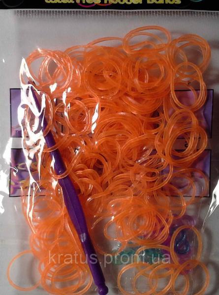 Резинки в пакете оранжевые    200шт.