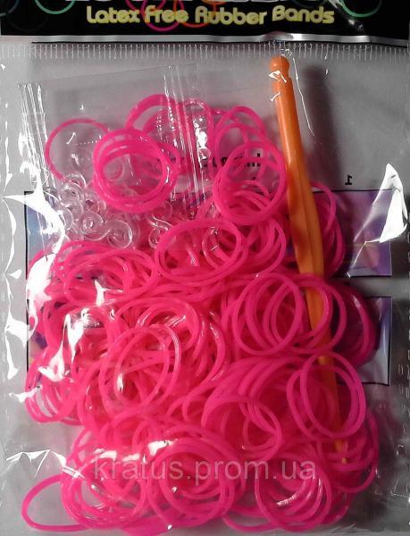 Резинки в пакете розовые    200шт.