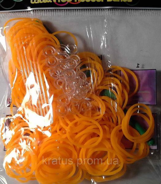 Резинки в пакете светло-оранжевые 200шт.