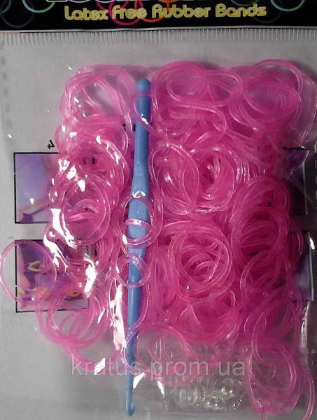Резинки в пакете светло-розовые 200шт.
