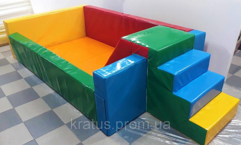 Сухой бассейн с горкой и мягким дном  2,5х1,5м (ПВХ) (без шариков или кубиков)