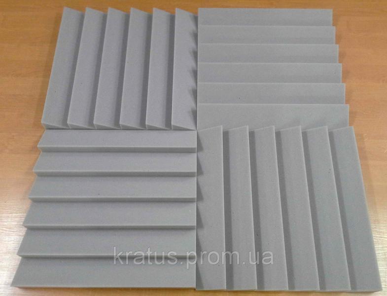 Акустические панели «Оптима 500»  0,5х0,5м толщина 50мм серая  ( за 1 шт.)