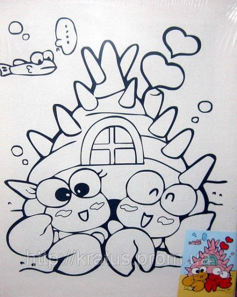 Фото Развивающие игрушки, Наборы для детского творчества, Рисование, раскрашивание Картинка на холсте 20х25см