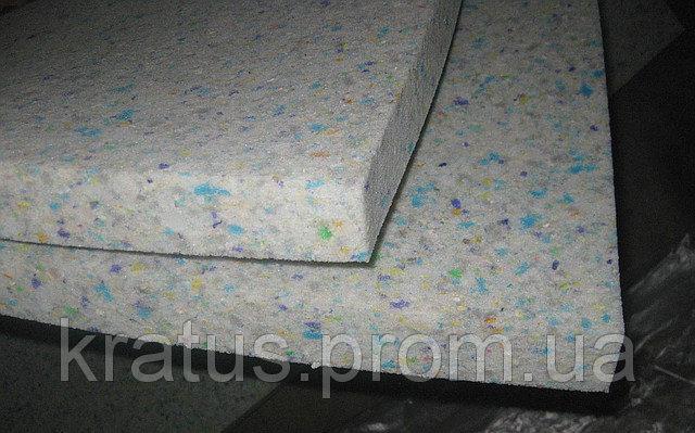 Поролон вторично вспененный  толщина 40мм (плотность 80 кг/м3) 1х2м