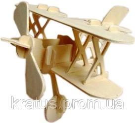 "P002 Конструктор деревянный sea-land самолет BI-Plane ""Кукурузник"" 2-е пластины"