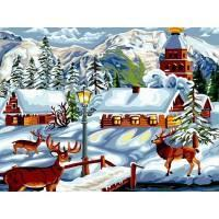 Фото Картины на холсте по номерам, Зима! Новый Год! Рождество! VK 199
